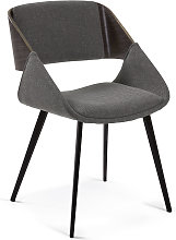 Kave Home - Silla Herrick gris oscuro