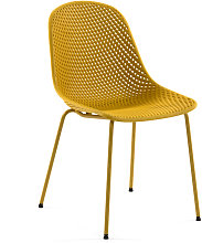 Kave Home - Silla Quinby amarillo