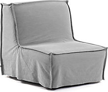 Kave Home - Sillón cama Lyanna 90 cm gris