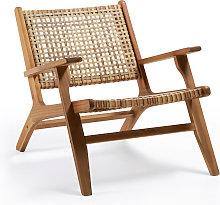 Kave Home - Sillón Grignoon de madera maciza de