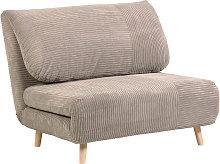 Kave Home - Sofá cama Keren 106 cm pana gris