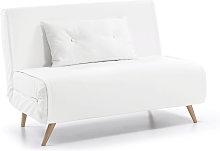 Kave Home - Sofá cama Tupana 100 cm piel