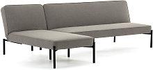 Kave Home - Sofá cama y chaise longue Nelki gris