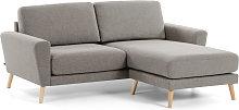 Kave Home - Sofá Narnia 3 plazas chaise longue