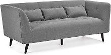 Kave Home - Sofá Saffron 3 plazas gris 200 cm