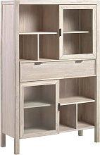 Kave Home - Vitrina Alen  madera maciza acacia 110