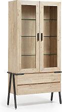 Kave Home - Vitrina Thinh de madera maciza de