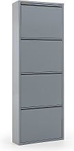 Kave Home - Zapatero Ode 50 x 136 cm 4 puertas gris