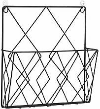KEBY - Revistero de metal montado en la pared para