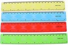 KERDEJAR Regla, 1 Regla Suave de 20 cm Multicolor,