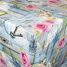 KEVKUS Mantel de hule 01375-01, diseño de rosas