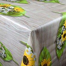 KEVKUS Mantel de hule AN10 de palmeras y girasoles