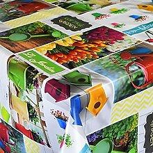 KEVKUS Mantel de hule B5005-01, multicolor, para