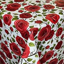 KEVKUS Mantel de hule K138A con rosas rojas y