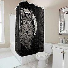 kikomia Cortina de ducha decorativa vikinga Odin