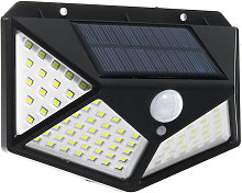 Kingso - Aplique de pared de 100 LED con energía