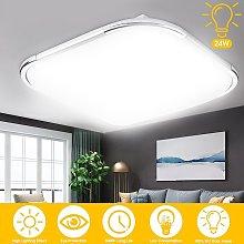 Kingso - Moderna lámpara de techo LED de 24 W,