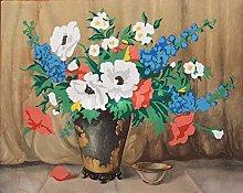 Kit de pintura digital jarrón de flores, con