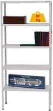Kit estanteria metalica de 5 baldas color blanco,