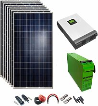 Kit Solar 24v 2400w Inversor Híbrido 3Kw MPPT 80A