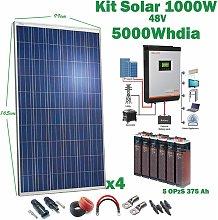 Kit Solar 48v 1000w Inversor Híbrido, 5Kw Mppt