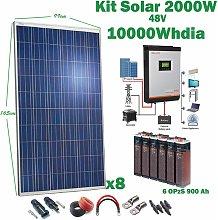 Kit Solar 48v 2000w Inversor Híbrido, 5Kw Mppt