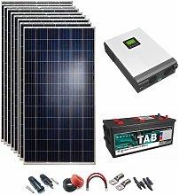 Kit Solar 48v 2430w Inversor Híbrido, 5Kw Mppt