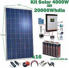 Kit Solar 48v 4000w Inversor Híbrido, 5Kw Mppt