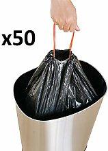 KITCHEN MOVE - Lote de 50 Bolsas de Basura (60 L,