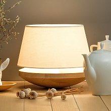 Kjell - lámpara de mesa con pantalla de lino crema