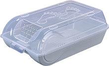 KKmoon - Caja de zapatos transparente con tapa,