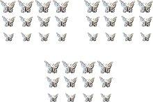 Kmuing Etiquetas Engomadas de Pared de Mariposa