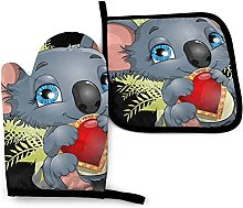 Koala Heart Love - Juego de Manoplas y Porta ollas