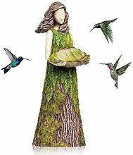 Kolibri Feeder - Estatua de resina de colibrí