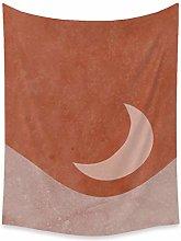 KONZFV tapizTapiz de Luna Rosa Tapiz de Pared de