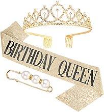 Kroy PecoeD - Corona de cumpleaños para mujer,