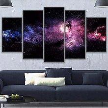 KSFBHC Cuadro sobre Lienzo 5 Piezas Space Nebula