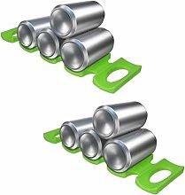 kwmobile Estante para almacenamiento de botellas