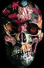 Kying Cráneo Barroco con Flores Múltiples