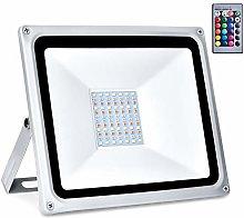 Kymzan - Foco LED RGB (30 W/50 W/100 W, con mando