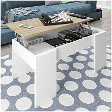 La Cibertienda - Mesa de centro color blanco y