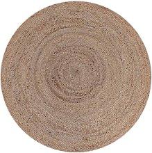 LABEL51 Alfombra redonda de yute natural 180 cm -