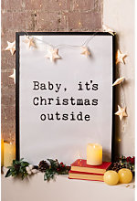 Láminas Decorativas de Navidad (50x70 cm) Niev B