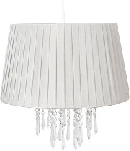 Lámpara colgante 0463 con cortina, plata