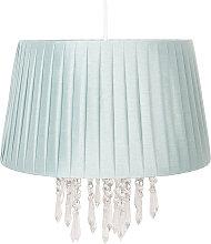 Lámpara colgante 0463 con cortina, verde claro