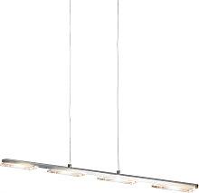 Lámpara colgante acero plástico regulador LED -