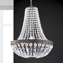 Lámpara colgante Andara, cadenas de cristal Ø