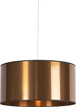 Lámpara colgante Art Deco blanca pantalla cobre
