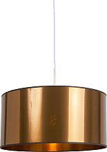 Lámpara colgante blanca pantalla cobre 50cm -