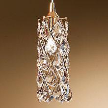 Lámpara colgante CHARLENE con elementos de cristal
